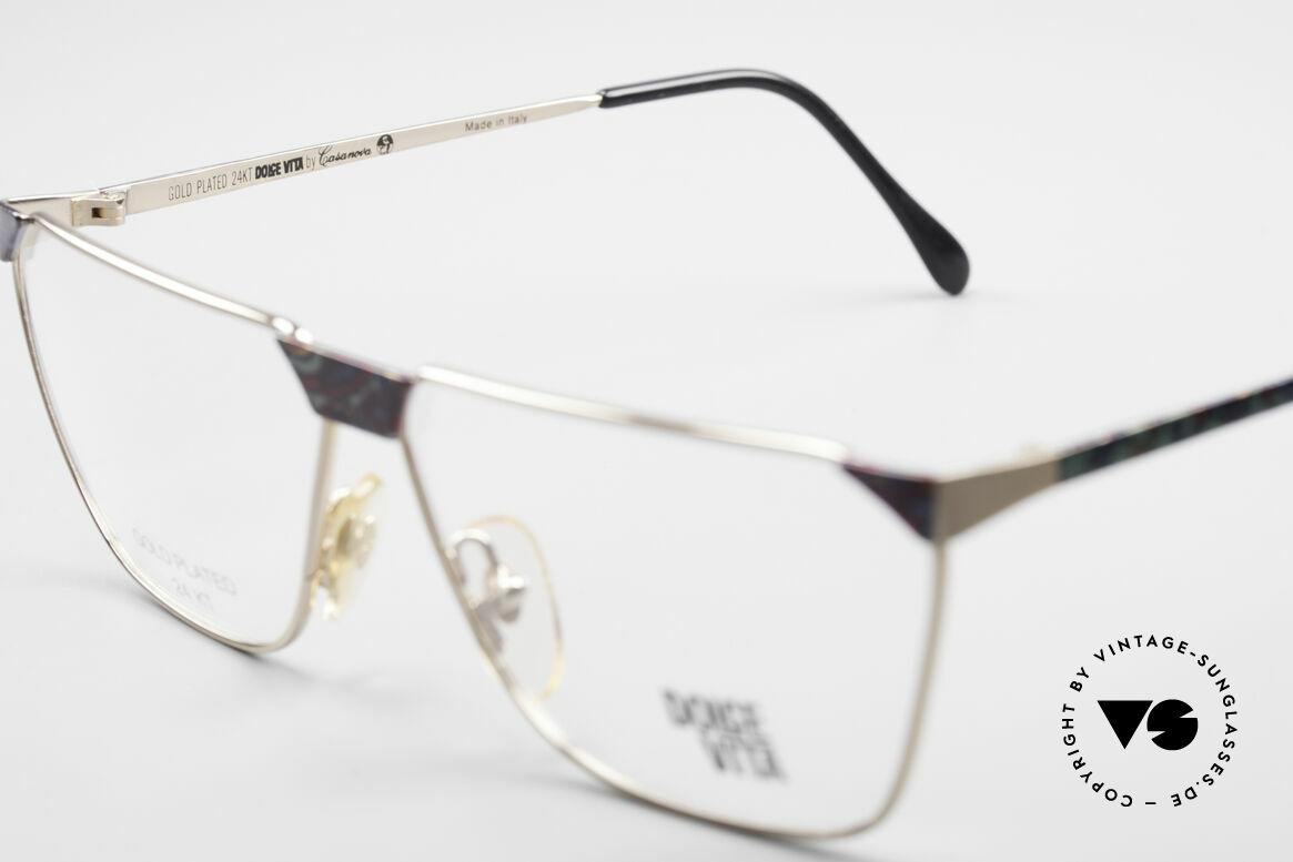 Casanova NM22 Dolce Vita 24kt Vintage Brille, eine kostbare, ungetragene, VINTAGE Designer Rarität, Passend für Herren und Damen