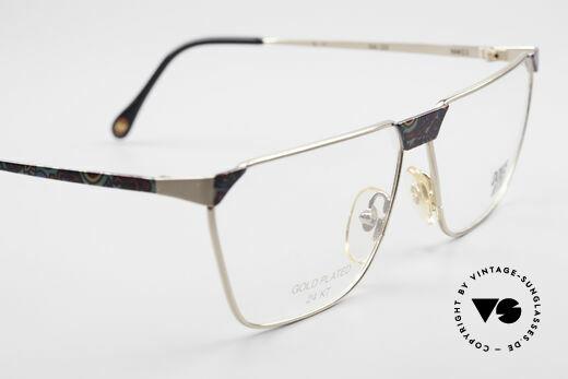 Casanova NM22 Dolce Vita 24kt Vintage Brille, original Demogläser können beliebig getauscht werden, Passend für Herren und Damen