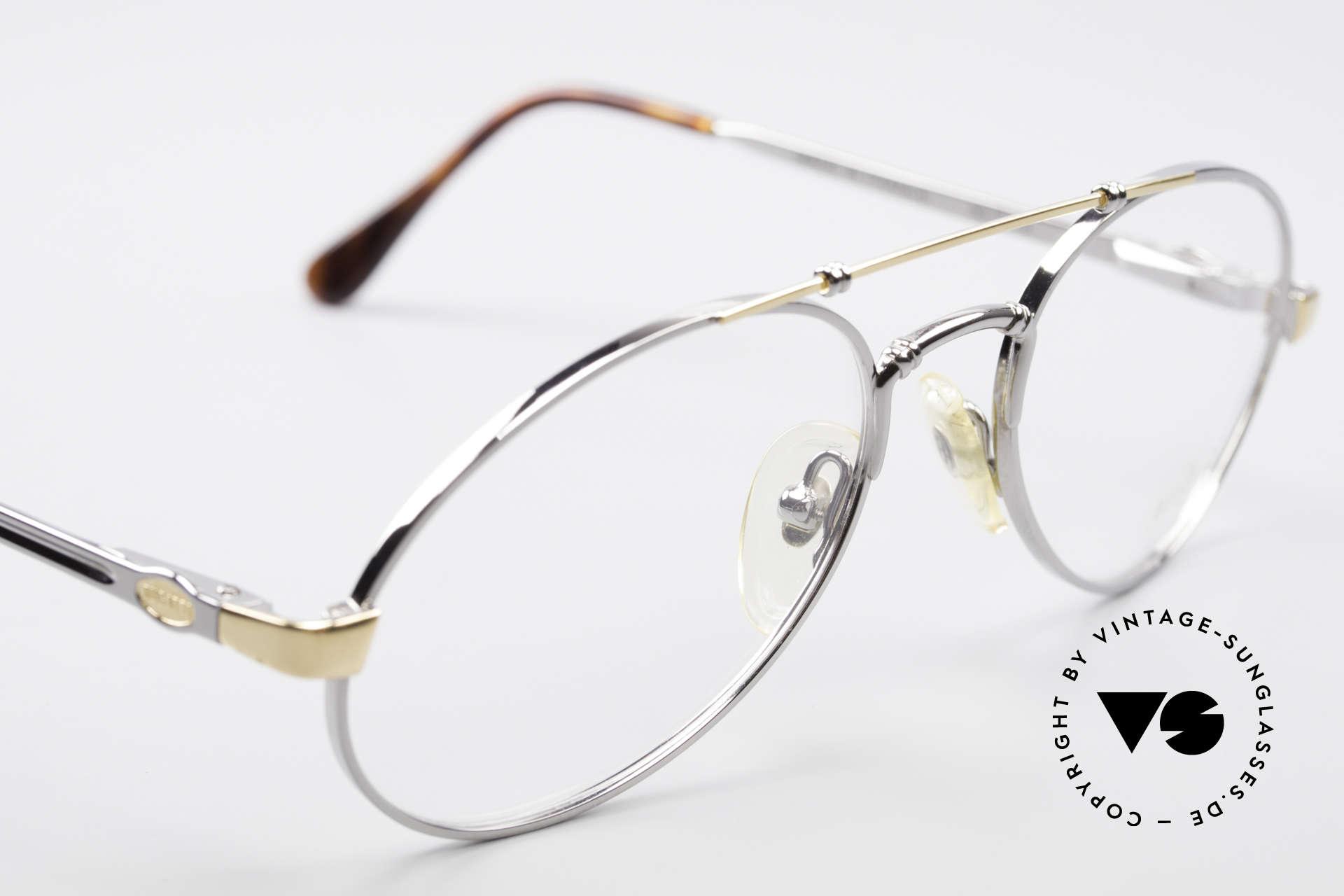 Bugatti 18526 80er Herren Vintage Brille, KEINE Retrobrille, sondern ein kostbares Original, Passend für Herren