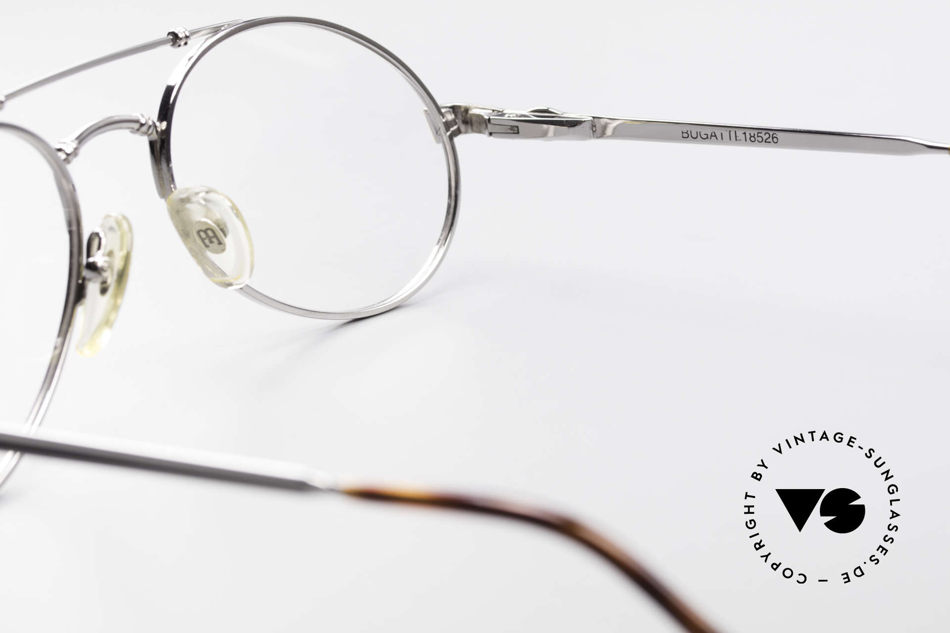 Bugatti 18526 80er Herren Vintage Brille, ungetragen (wie alle unsere 1980er vintage Brillen), Passend für Herren