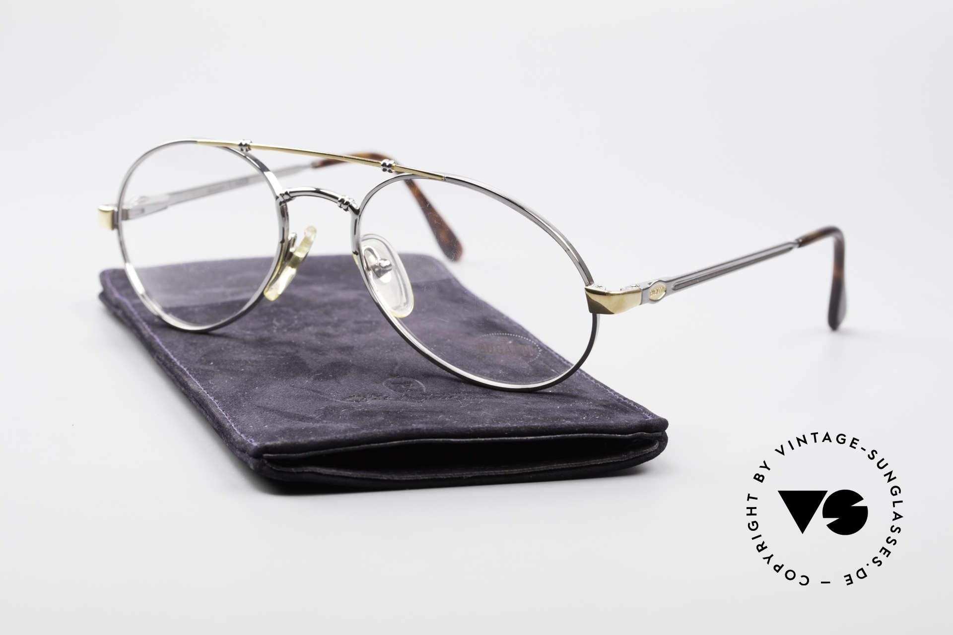 Bugatti 18526 80er Herren Vintage Brille, Größe: medium, Passend für Herren