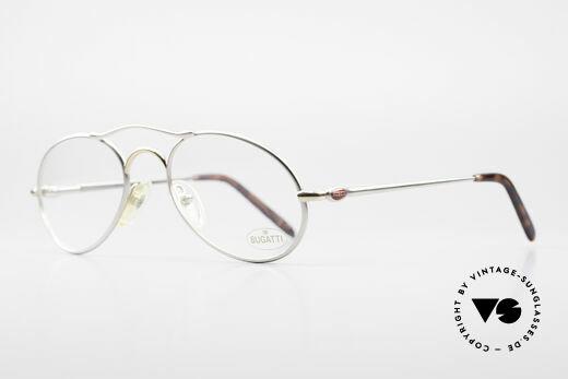 Bugatti 23439 Vintage Brille Mit Sonnenclip, KEINE Retrobrille, sondern ein altes ORIGINAL!, Passend für Herren