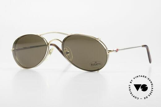 Bugatti 23439 Vintage Brille Mit Sonnenclip Details