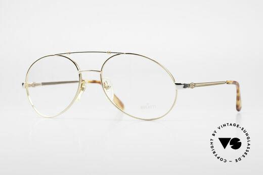 Bugatti 14808 Vergoldete 80er Vintage Brille Details