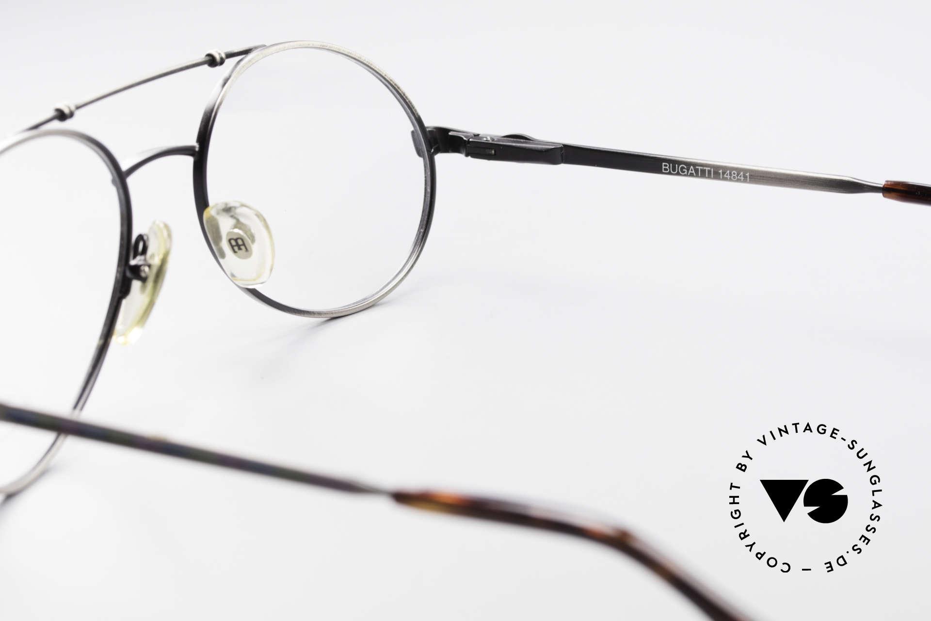 Bugatti 14841 Titanium 80er Vintage Brille, KEINE Retrobrille, sondern ein kostbares Original, Passend für Herren