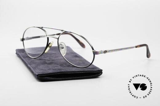 Bugatti 14841 Titanium 80er Vintage Brille, ungetragen (wie alle unsere 1980er vintage Brillen), Passend für Herren