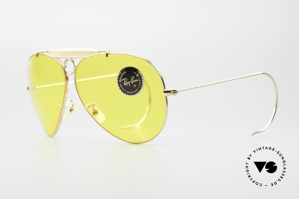 Ray Ban Shooter Sport Kalichrome B&L Gläser 62mm, einzigartige, gelbe B&L KALICHROME Mineralgläser, Passend für Herren