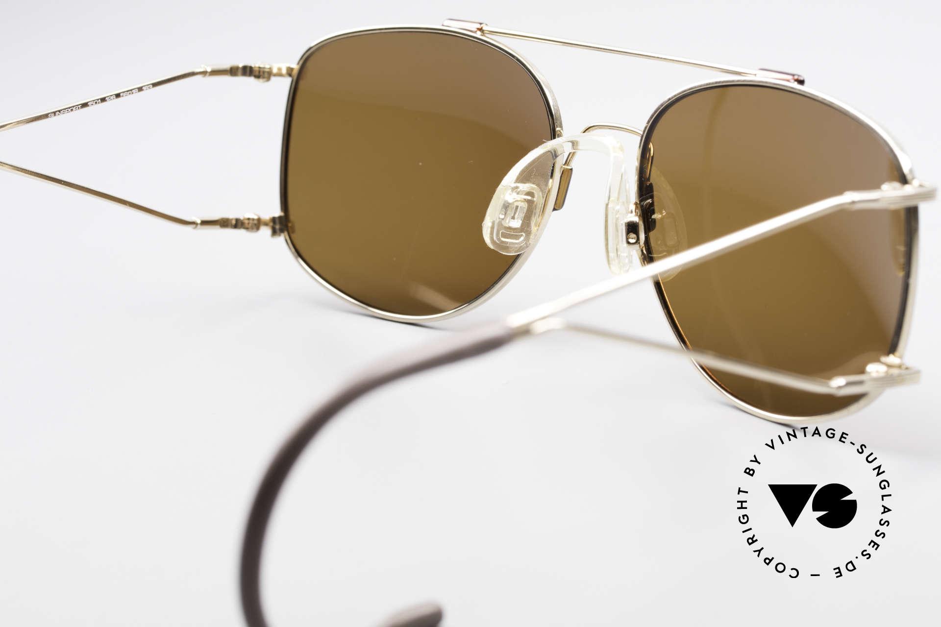 Neostyle Sunsport 1501 Titanflex Vintage Sonnenbrille, ungetragenes 1990er Original mit vintage Hartetui, Passend für Herren