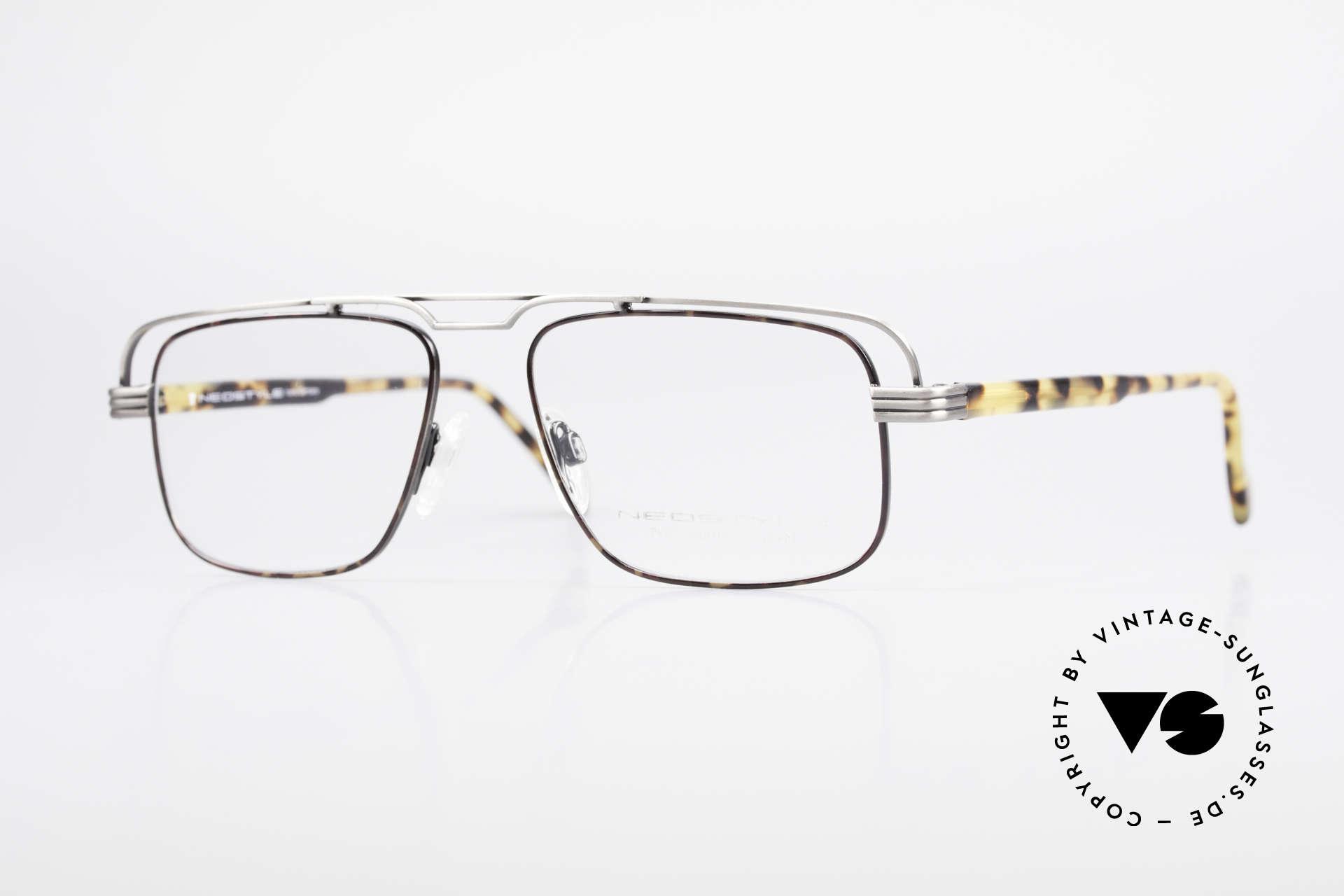 Neostyle Jet 230 80er Vintage No Retro Brille, sehr markante vintage Neostyle Brille aus den 80ern, Passend für Herren
