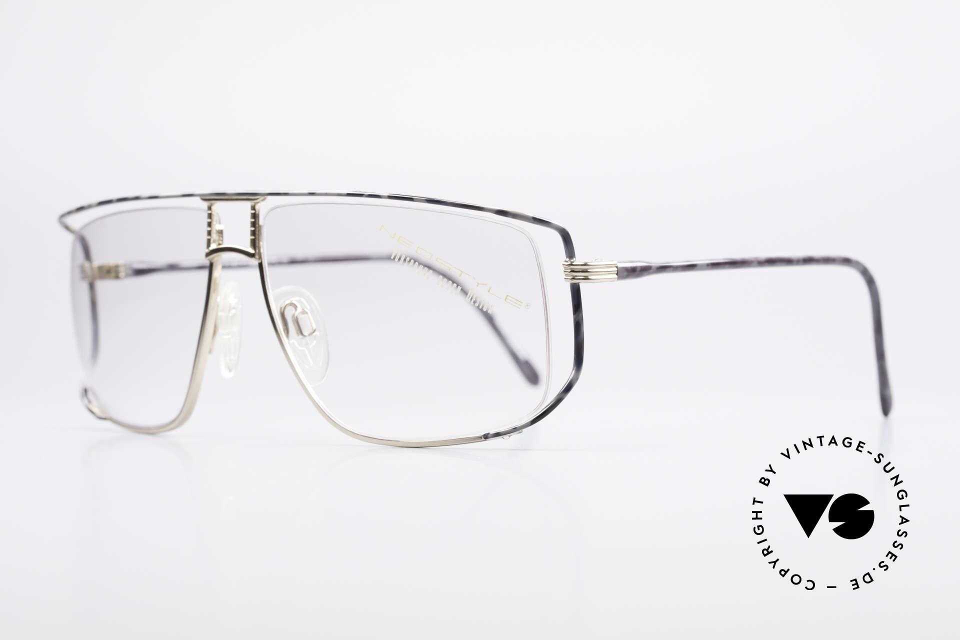 Neostyle Jet 30 Small Echte Vintage No Retro Brille, Glaseinfassung durch Nylor-Faden (enorm komfortabel), Passend für Herren und Damen