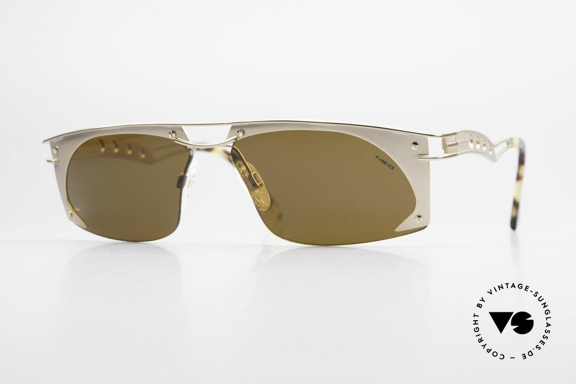 Neostyle Holiday 968 Steampunk 90er Sonnenbrille, außergewöhnliche Neostyle Sonnenbrille der 90er, Passend für Herren