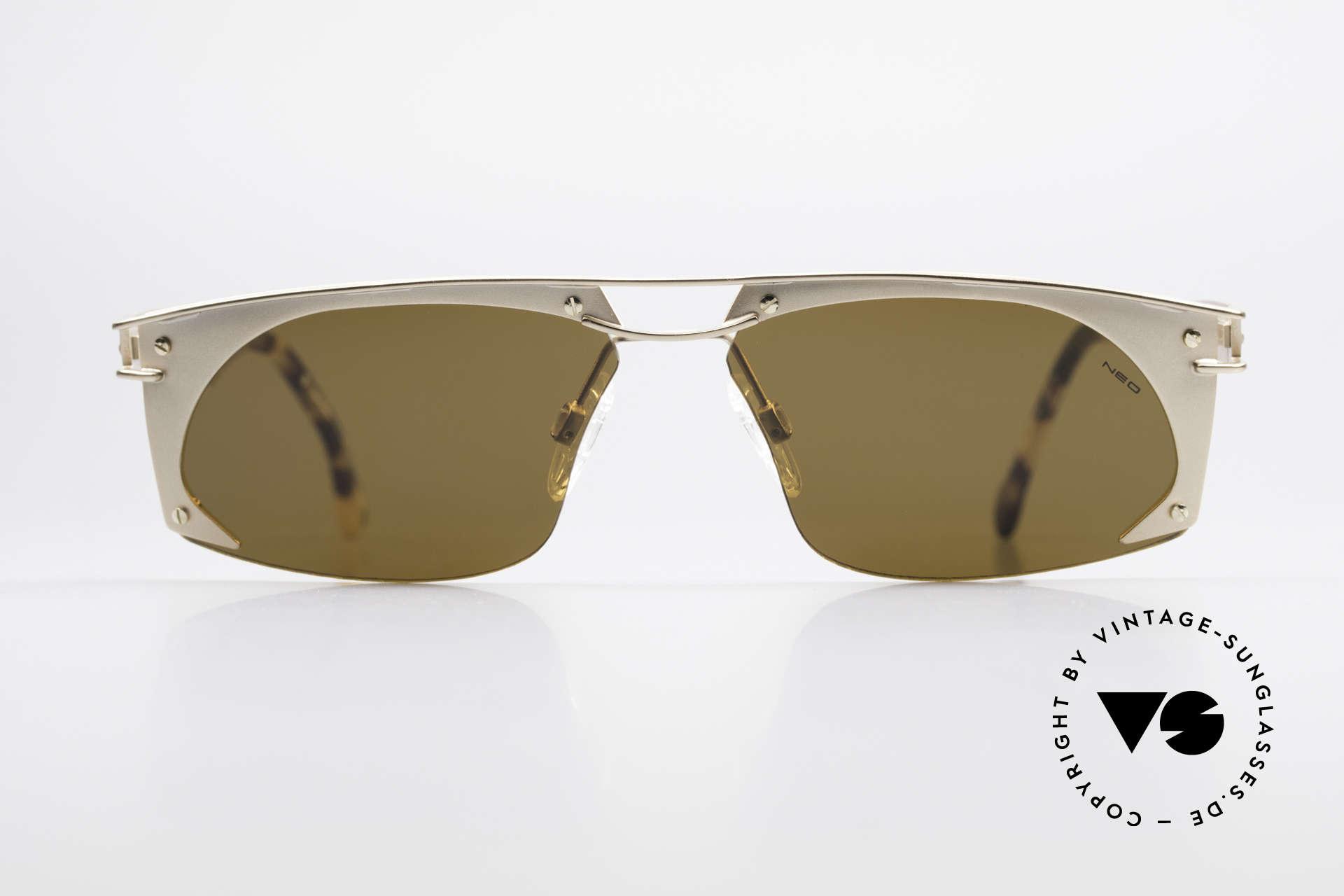 Neostyle Holiday 968 Steampunk 90er Sonnenbrille, spektakuläres Rahmen-Design im 'Industrial-Stil', Passend für Herren