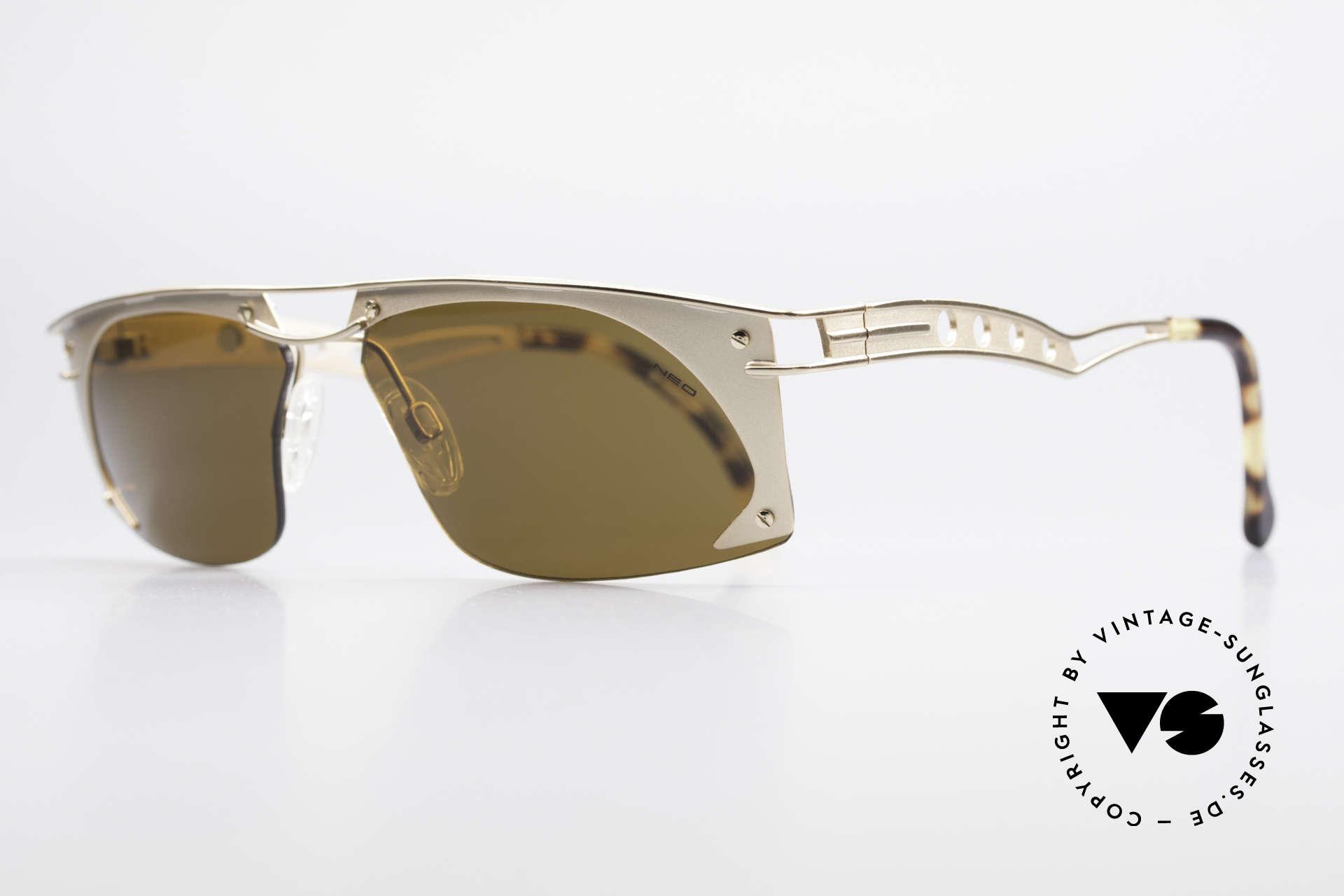 """Neostyle Holiday 968 Steampunk 90er Sonnenbrille, gerne als """"STEAMPUNK-Sonnenbrille"""" bezeichnet, Passend für Herren"""