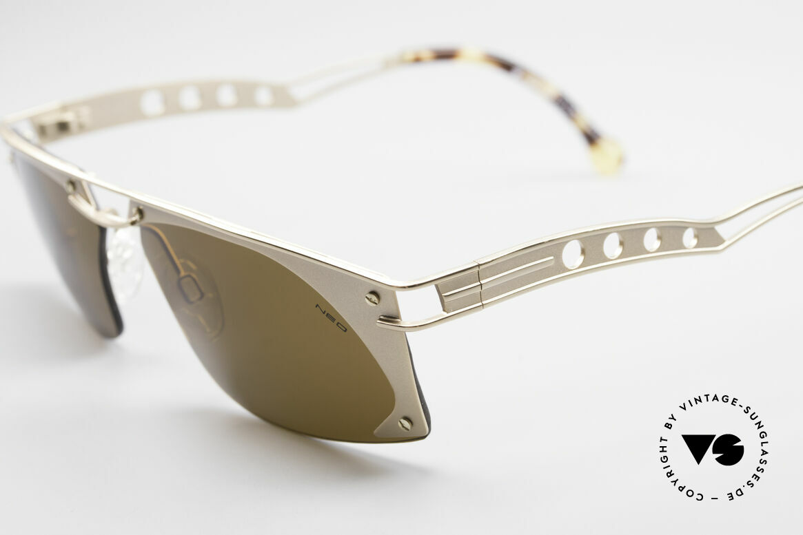 Neostyle Holiday 968 Steampunk 90er Sonnenbrille, dunkelbraune Sonnengläser (für 100% UV Schutz), Passend für Herren