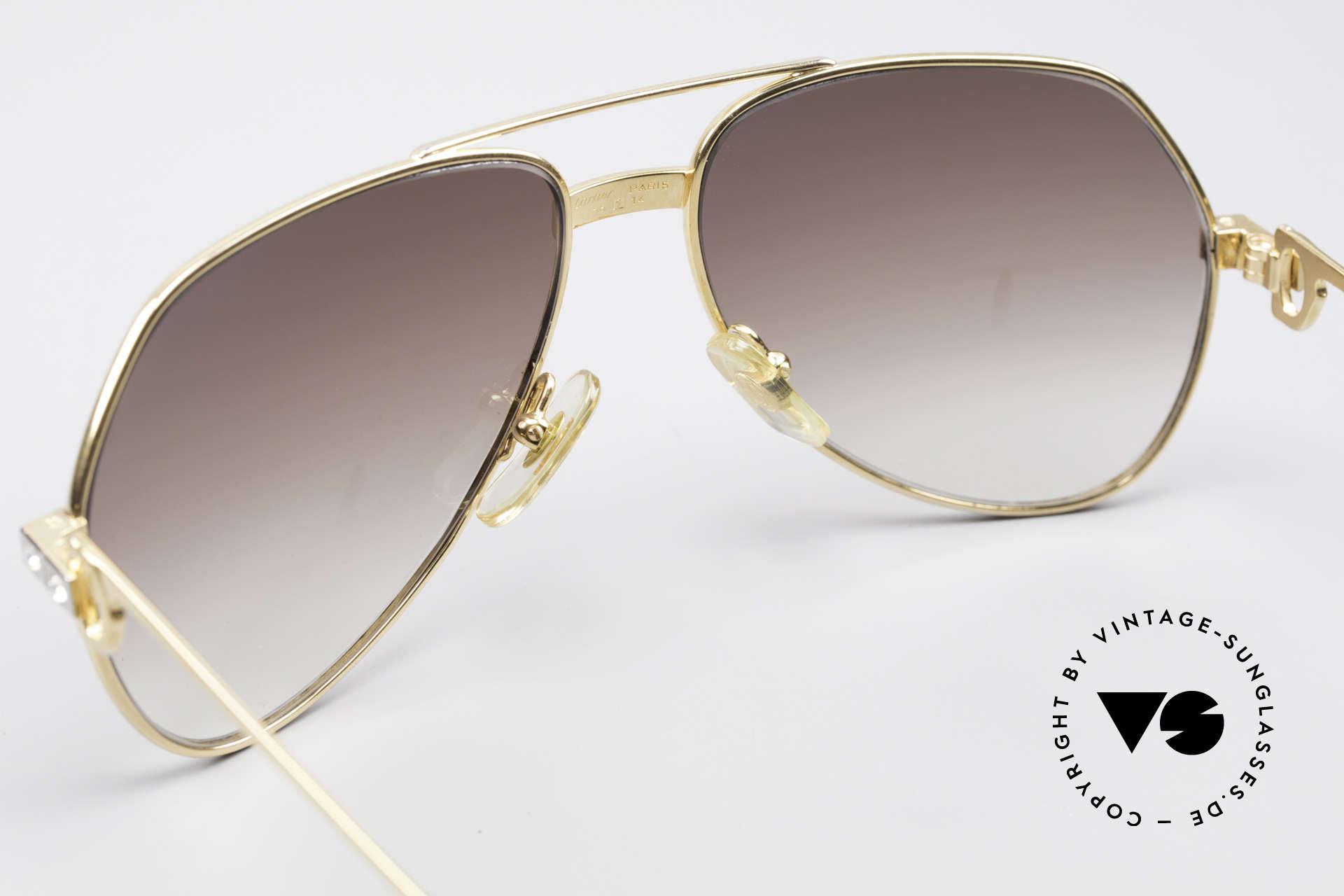 Cartier Vendome Santos - S Customized Crystal Edition, KEINE Retrosonnenbrille; ein altes Original von 1983!, Passend für Herren und Damen