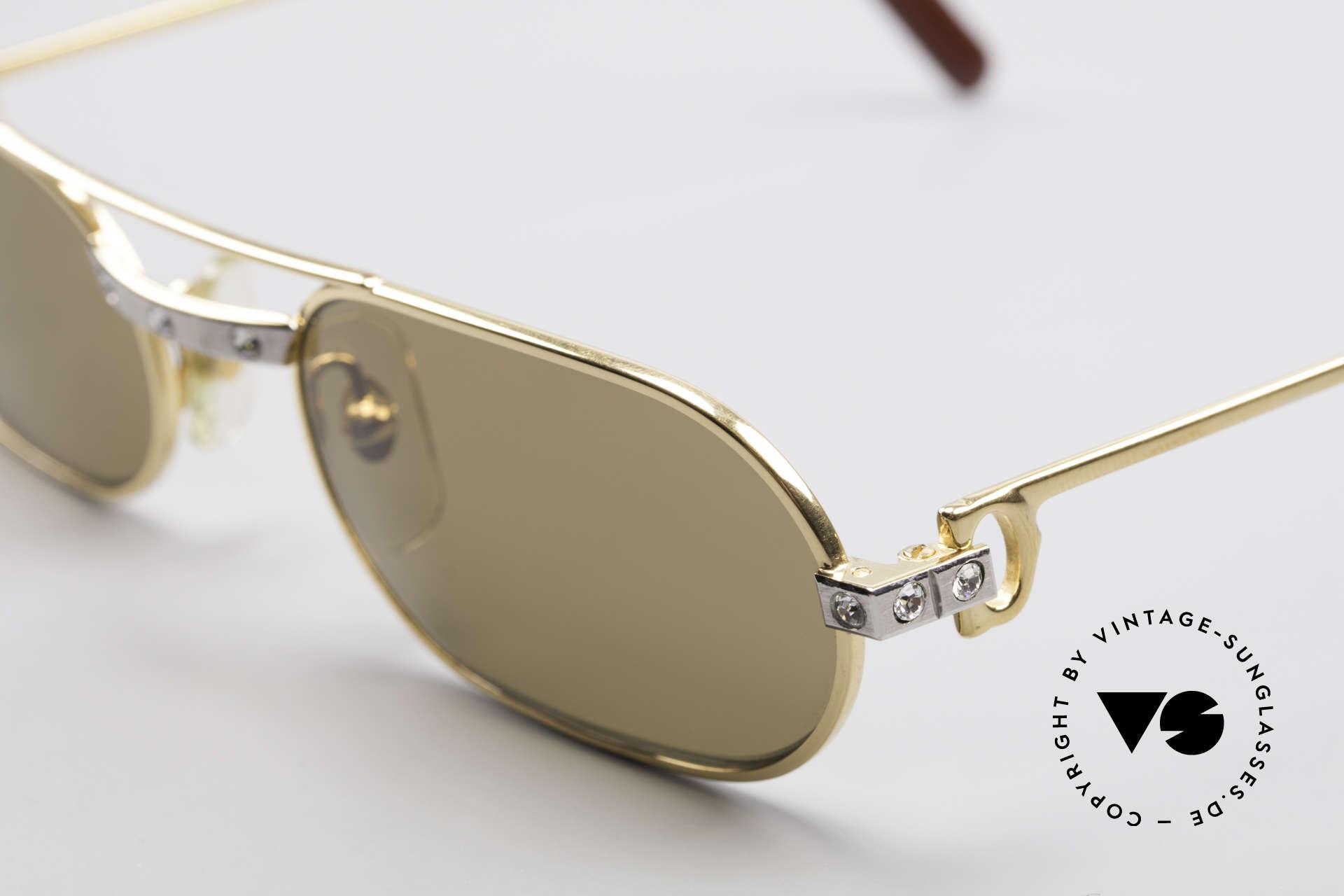 Cartier Must Santos - S Customized Crystal Edition, ein funkelndes Einzelstück in SMALL Größe 53-20, 130, Passend für Herren und Damen