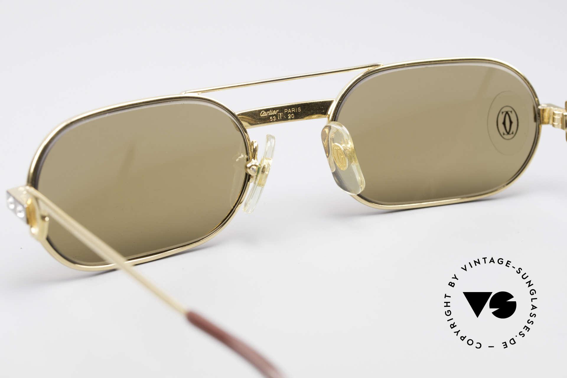 Cartier Must Santos - S Customized Crystal Edition, KEINE RETRObrille; ein 35 Jahre altes vintage ORIGINAL, Passend für Herren und Damen