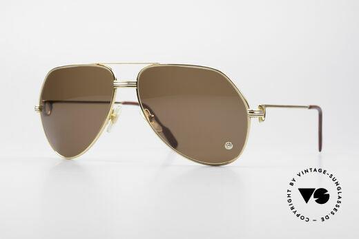 Cartier Vendome LC - L Crystal Luxus Sonnenbrille Details