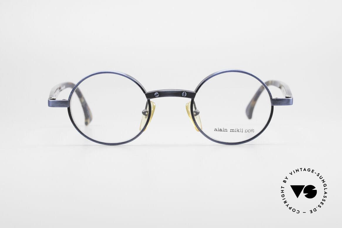 Alain Mikli 1218 / 3218 Runde Designer Brille Unisex, runde 1990er Alain Mikli Designer-Brillenfassung, Passend für Herren und Damen