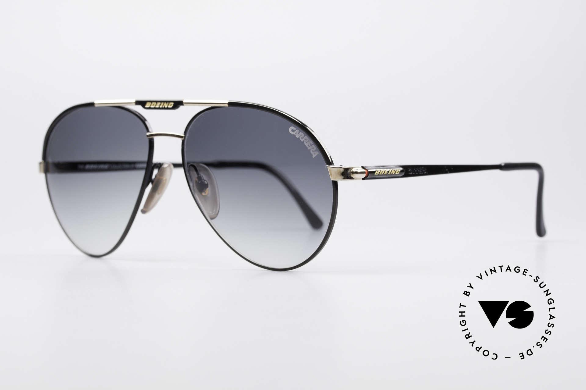 Boeing 5733 Vintage Pilotensonnenbrille, Ende der 80er extra für die Boeing-Piloten produziert, Passend für Herren