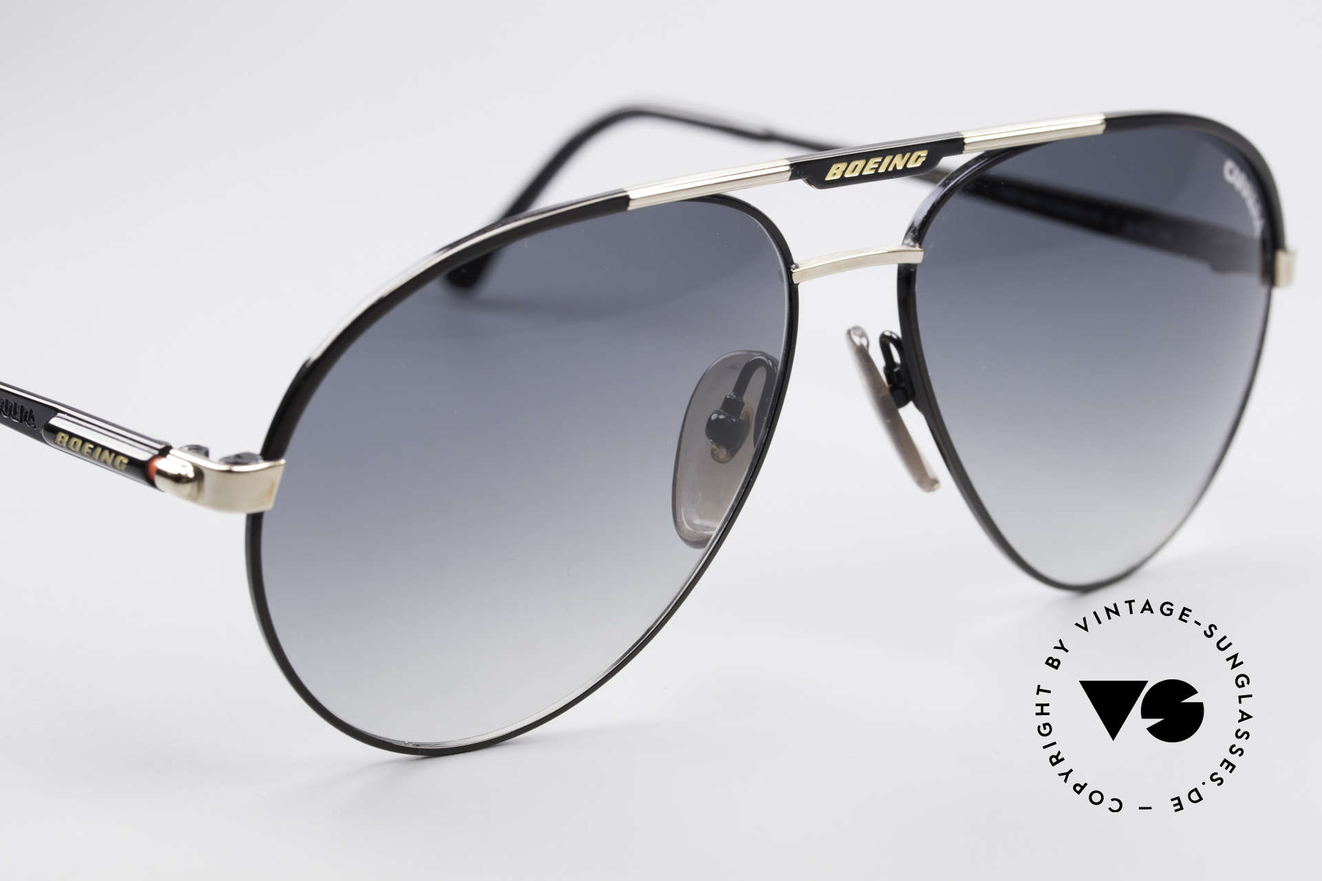 Boeing 5733 Vintage Pilotensonnenbrille, ungetragen (wie alle unsere vintage BOEING Brillen), Passend für Herren