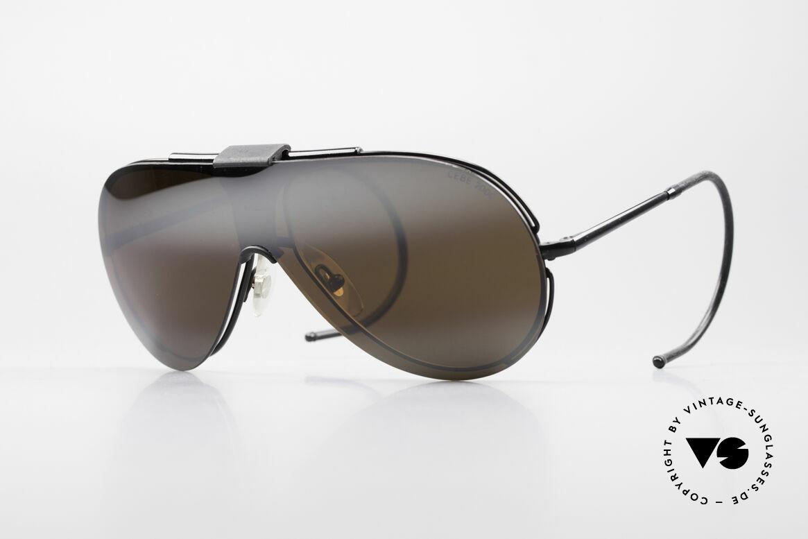 Cebe 2000 Clip On Rallye Sportbrille, teure CEBE Sportsonnenbrille für den extremen Einsatz, Passend für Herren