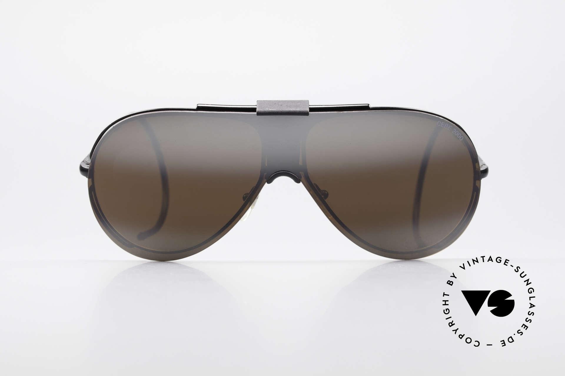 Cebe 2000 Clip On Rallye Sportbrille, u.a. für die Fahrer der Rallye 'PARIS-DAKAR' entwickelt, Passend für Herren