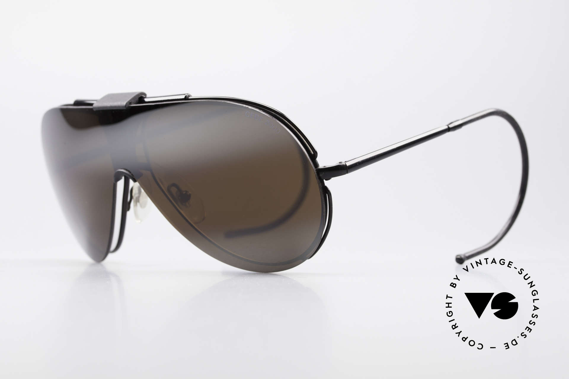 Cebe 2000 Clip On Rallye Sportbrille, abnehmbarer Sonnen-Clip; somit auch als Brille nutzbar, Passend für Herren