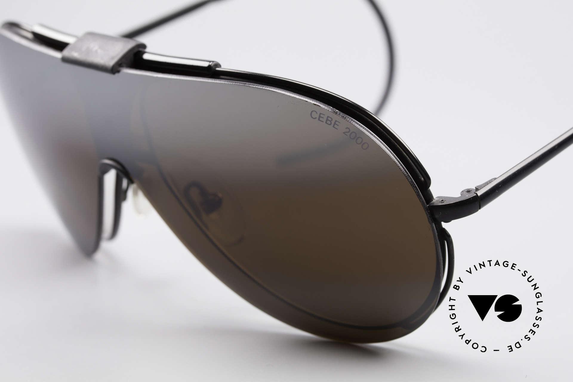 Cebe 2000 Clip On Rallye Sportbrille, verspiegelter Sonnenschutz; Sportbügel für idealen Halt, Passend für Herren