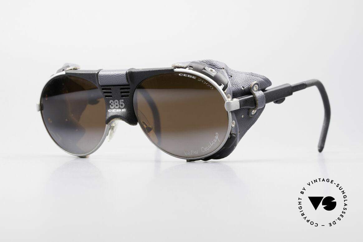 Cebe 385 Walter Cecchinel Sonnenbrille, vintage Cebe Sportbrille für extreme Wetterbedingungen, Passend für Herren und Damen