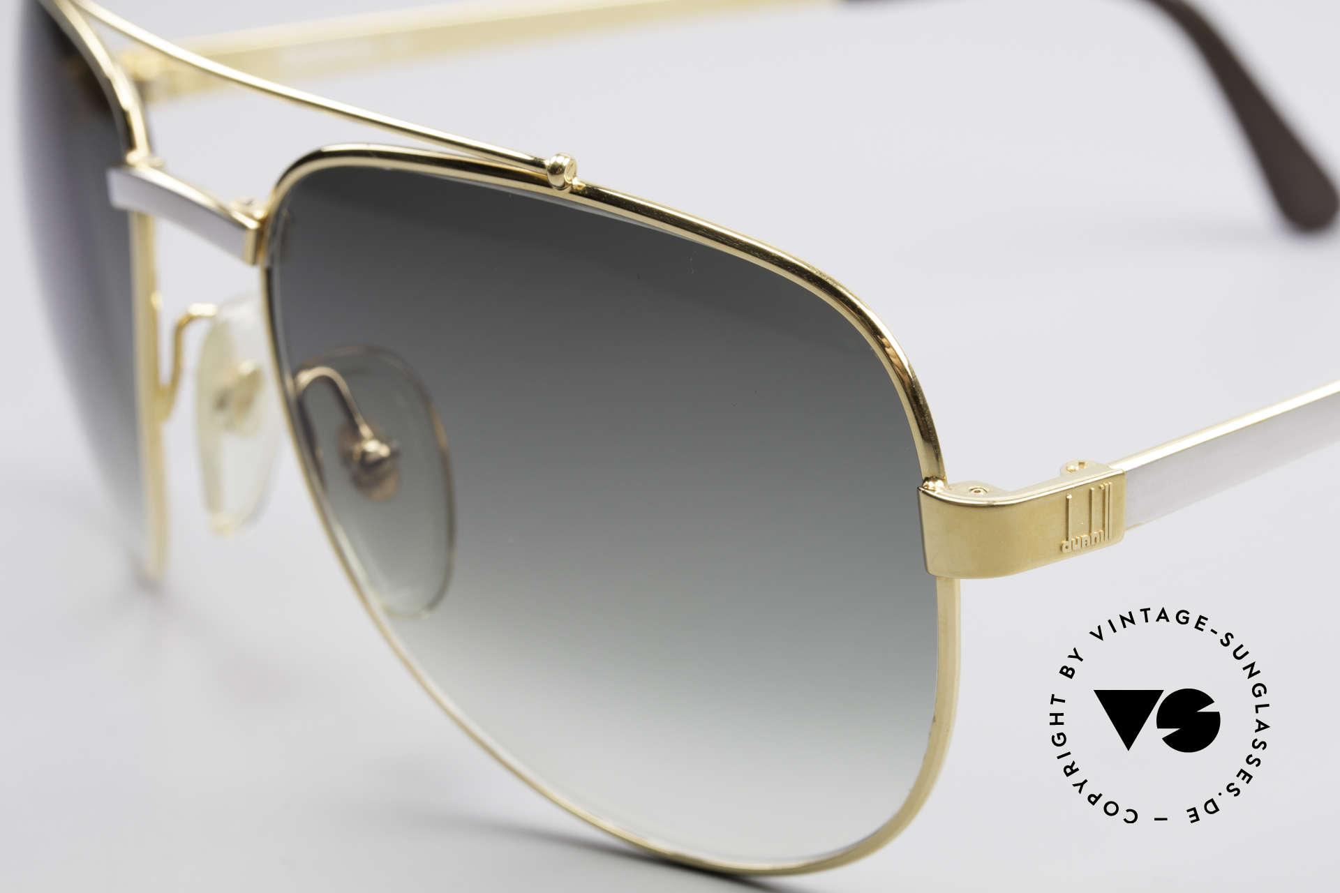 Dunhill 6029 Vergoldete Luxus Sonnenbrille, sehr eleganter Klassiker mit Aston Martin Etui, Passend für Herren