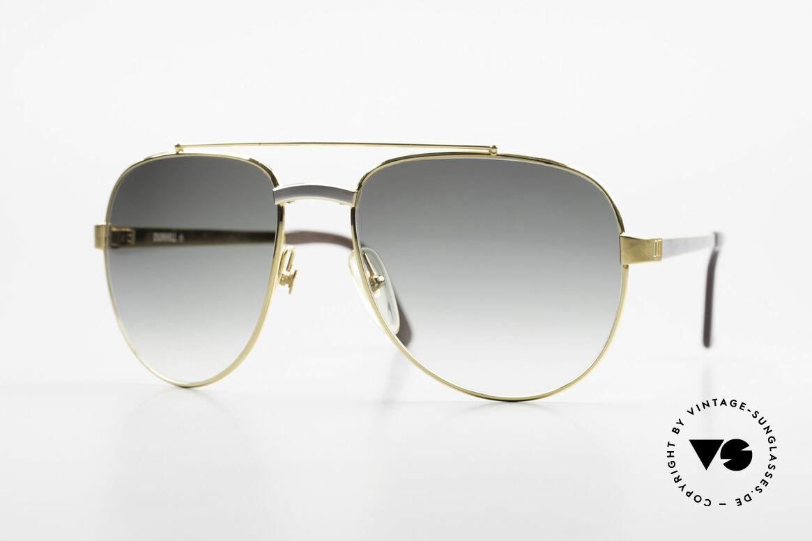 Dunhill 6029 Vergoldete Luxus Sonnenbrille, Comfort-Fit: federnde Brücke für optimale Form, Passend für Herren
