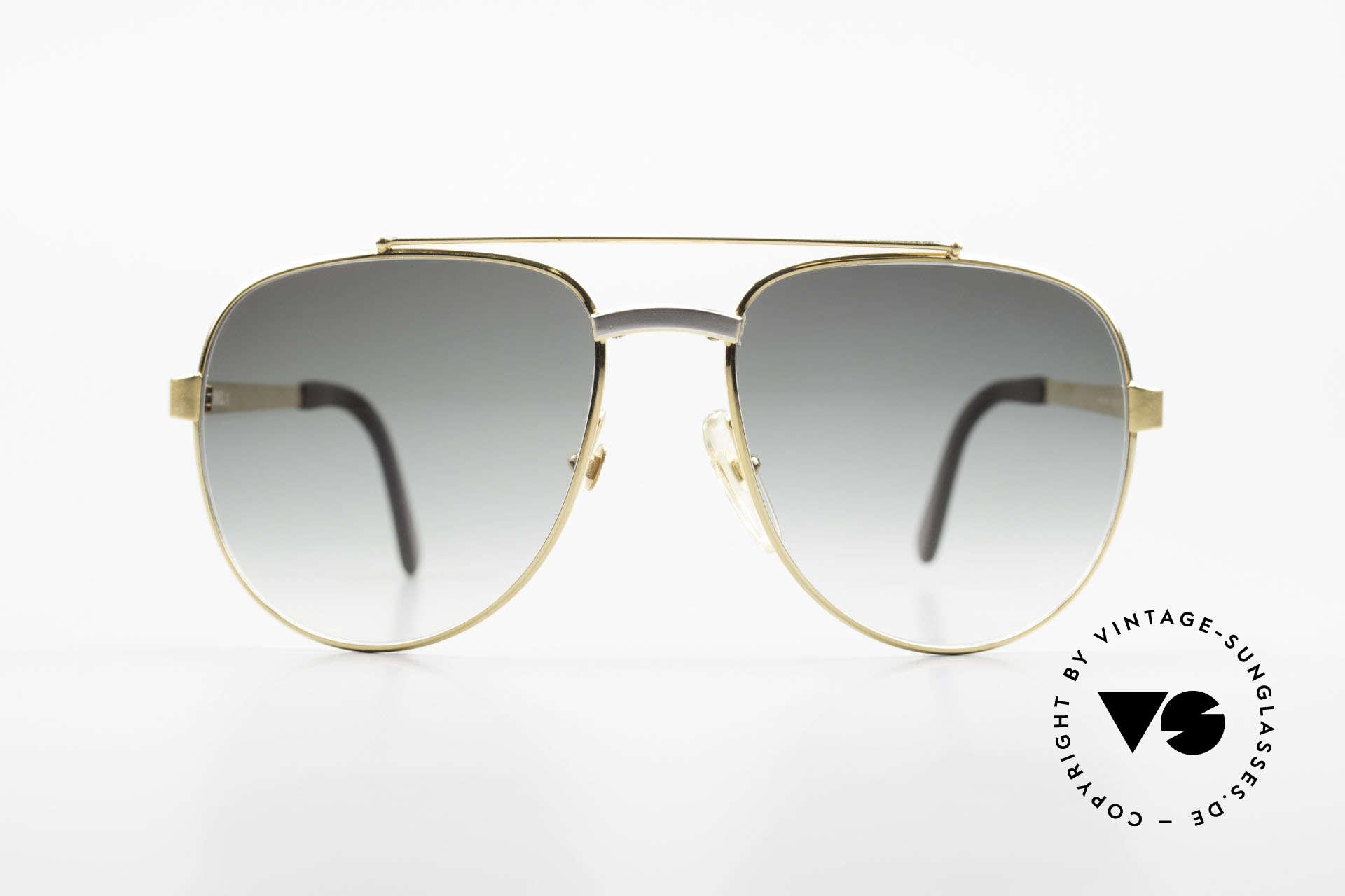 Dunhill 6029 Vergoldete Luxus Sonnenbrille, stilvolle Dunhill vintage Sonnenbrille von 1985, Passend für Herren