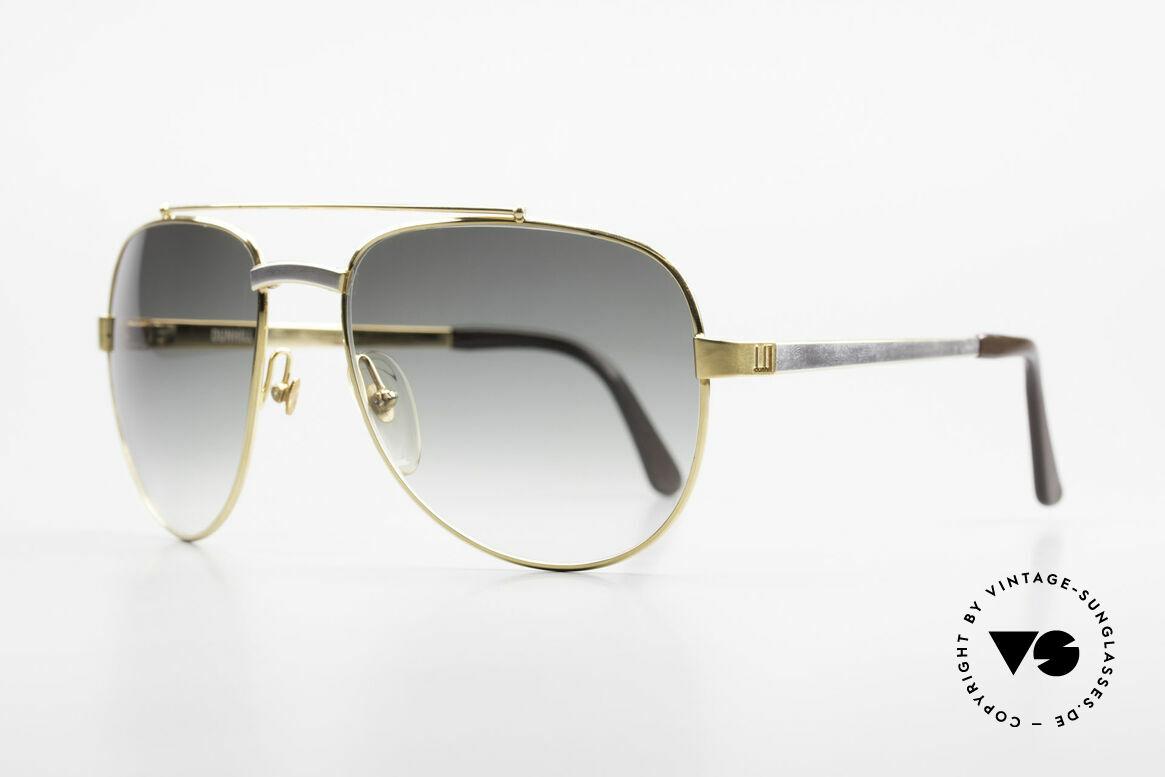 Dunhill 6029 Vergoldete Luxus Sonnenbrille, hartvergoldet & rhodiniert = Luxussonnenbrille, Passend für Herren