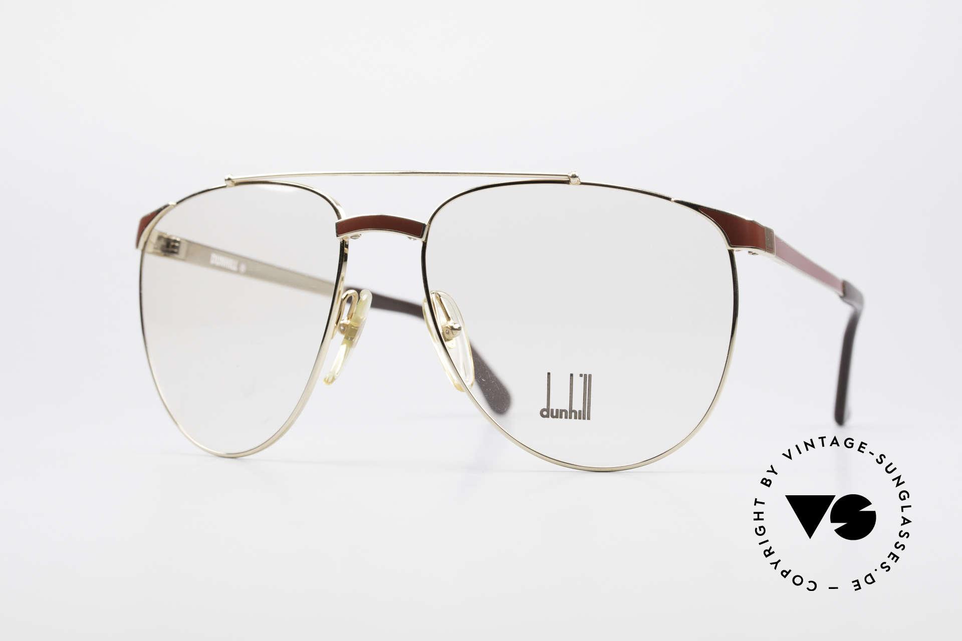 Dunhill 6034 Chinalack Luxus Brille 80er, stilvolle Dunhill vintage Brillenfassung von 1986, Passend für Herren
