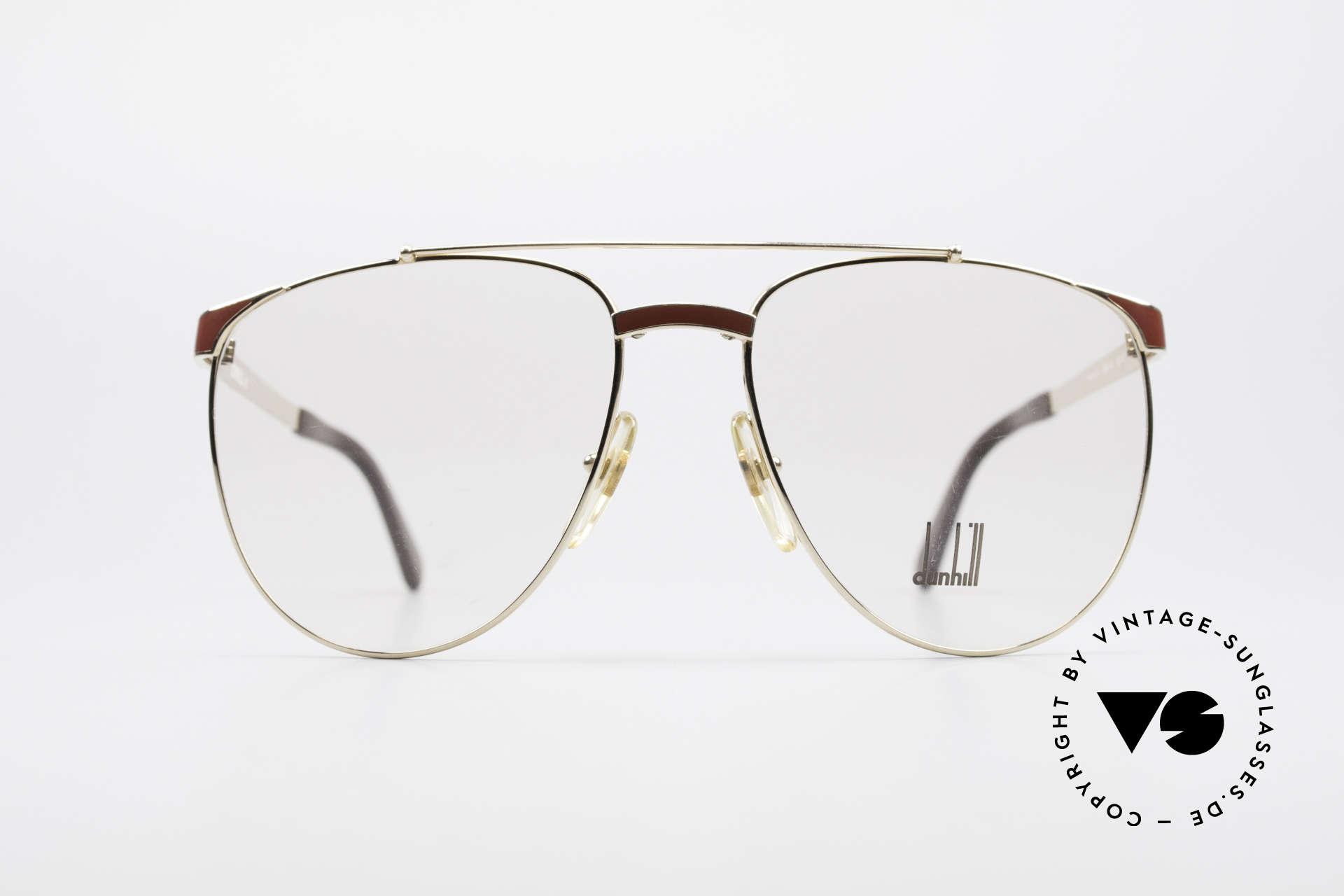 Dunhill 6034 Chinalack Luxus Brille 80er, Comfort-Fit: federnde Brücke für optimale Form, Passend für Herren