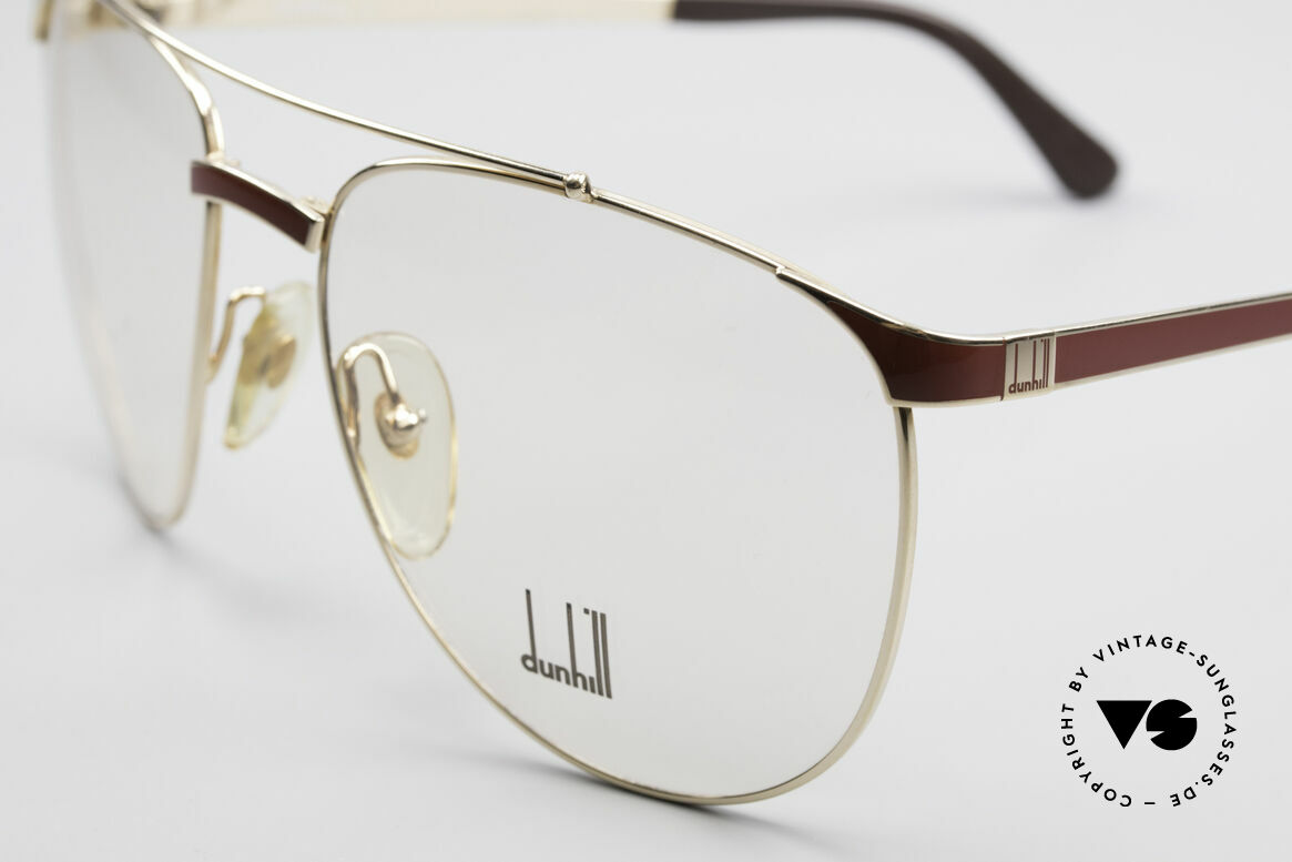 Dunhill 6034 Chinalack Luxus Brille 80er, sehr eleganter KLASSIKER mit Aston Martin Etui, Passend für Herren