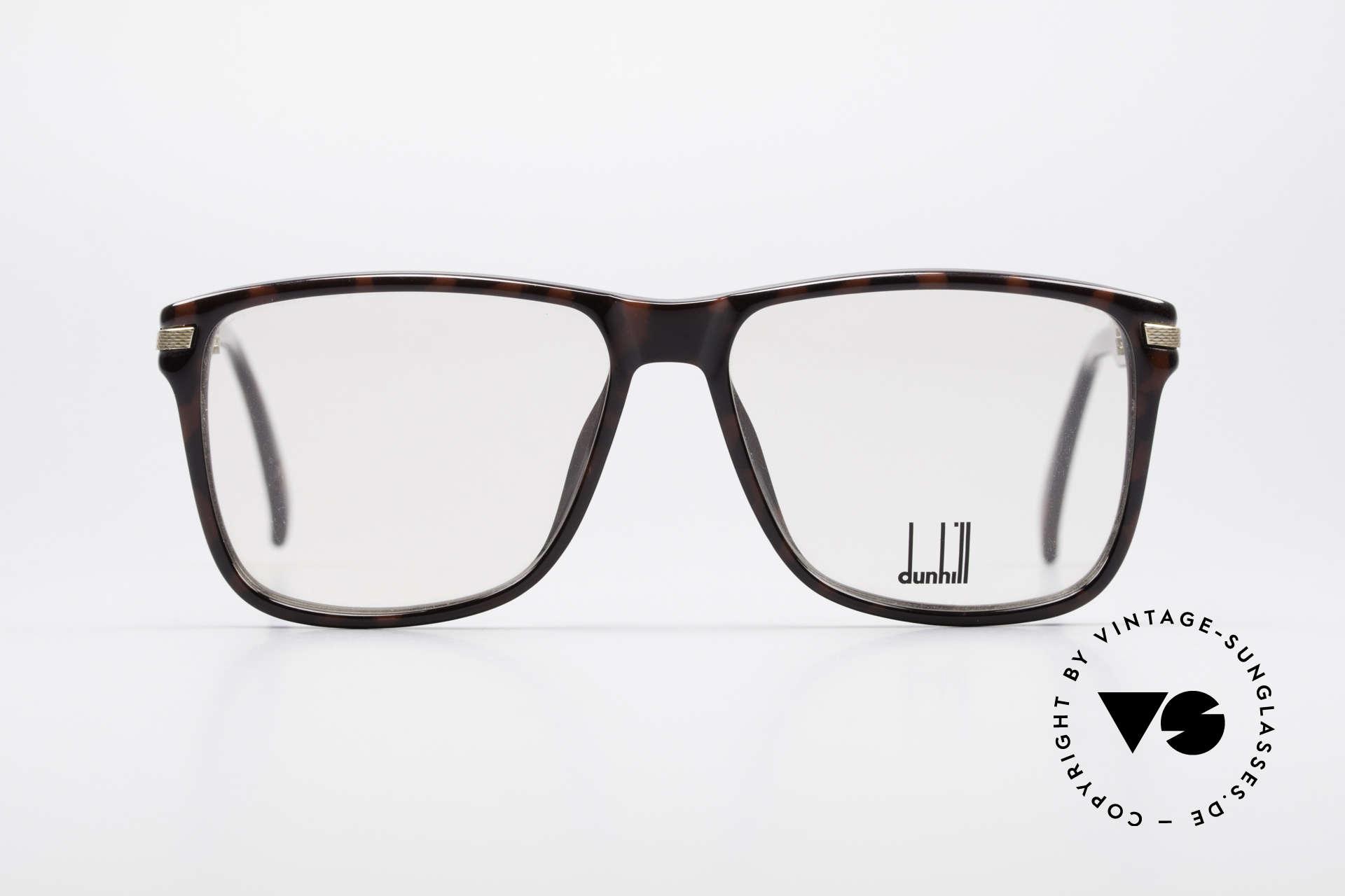 """Dunhill 6055 Johnny Depp Nerd Stil Brille, angesagte 'Nerdbrille' in edler """"Wurzelholz""""-Optik, Passend für Herren"""