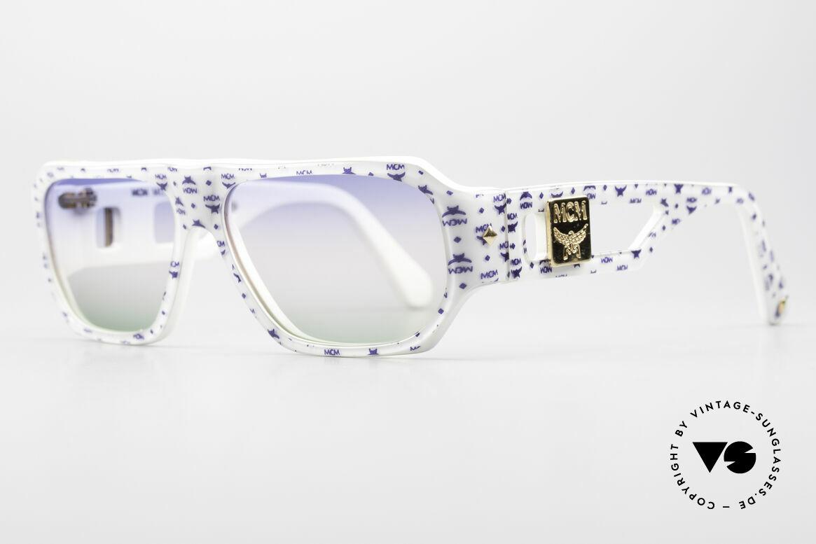 MCM München A2 80er Designer Sonnenbrille, wuchtige Optik und überzeugende 80er Qualität, Passend für Herren und Damen