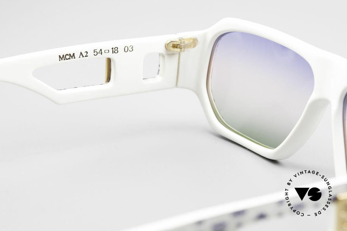 MCM München A2 80er Designer Sonnenbrille, ungetragen (wie alle unsere MCM Sonnenbrillen), Passend für Herren und Damen