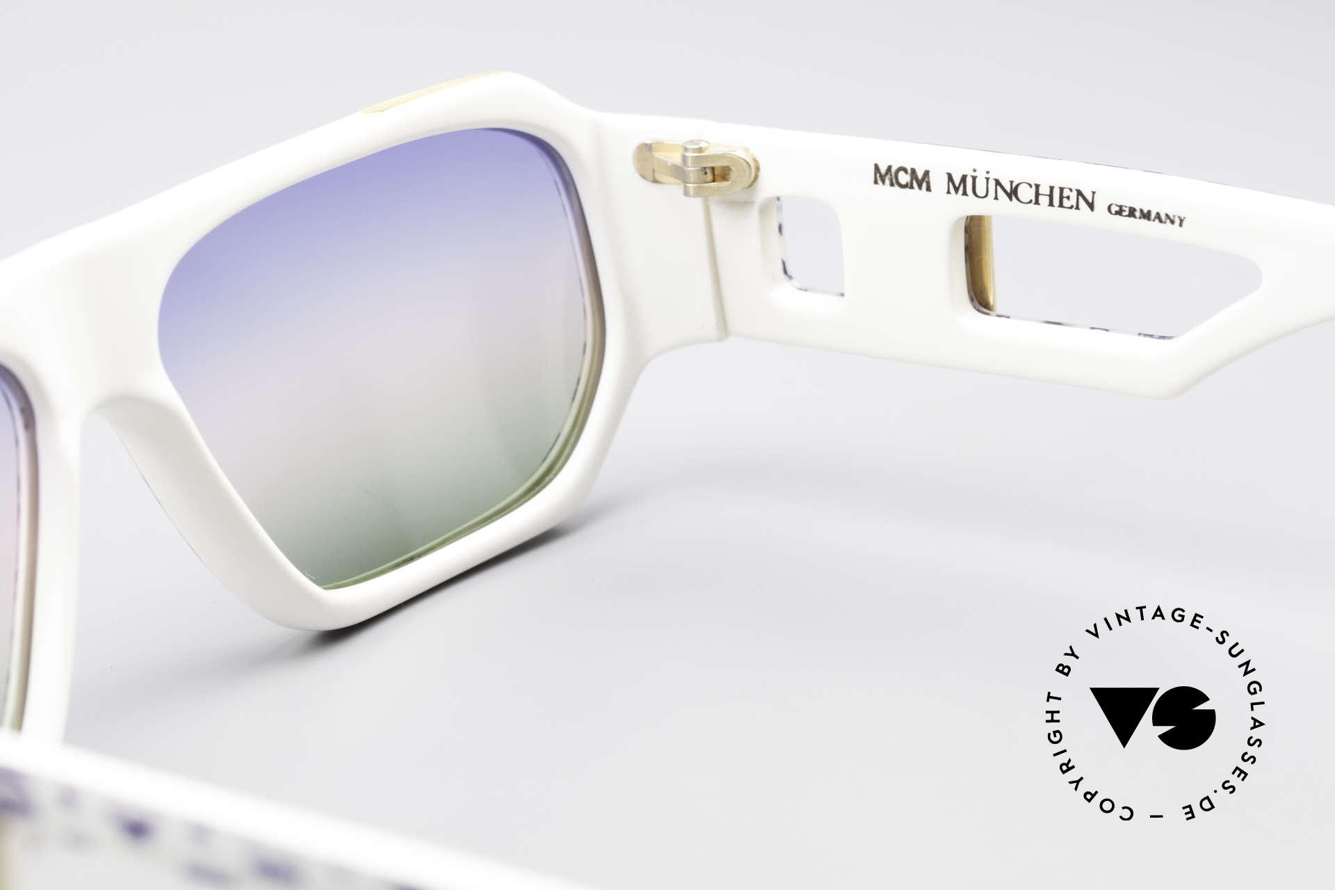 MCM München A2 80er Designer Sonnenbrille, KEIN RETRO, ein 80er Original mit Lacoste Etui, Passend für Herren und Damen