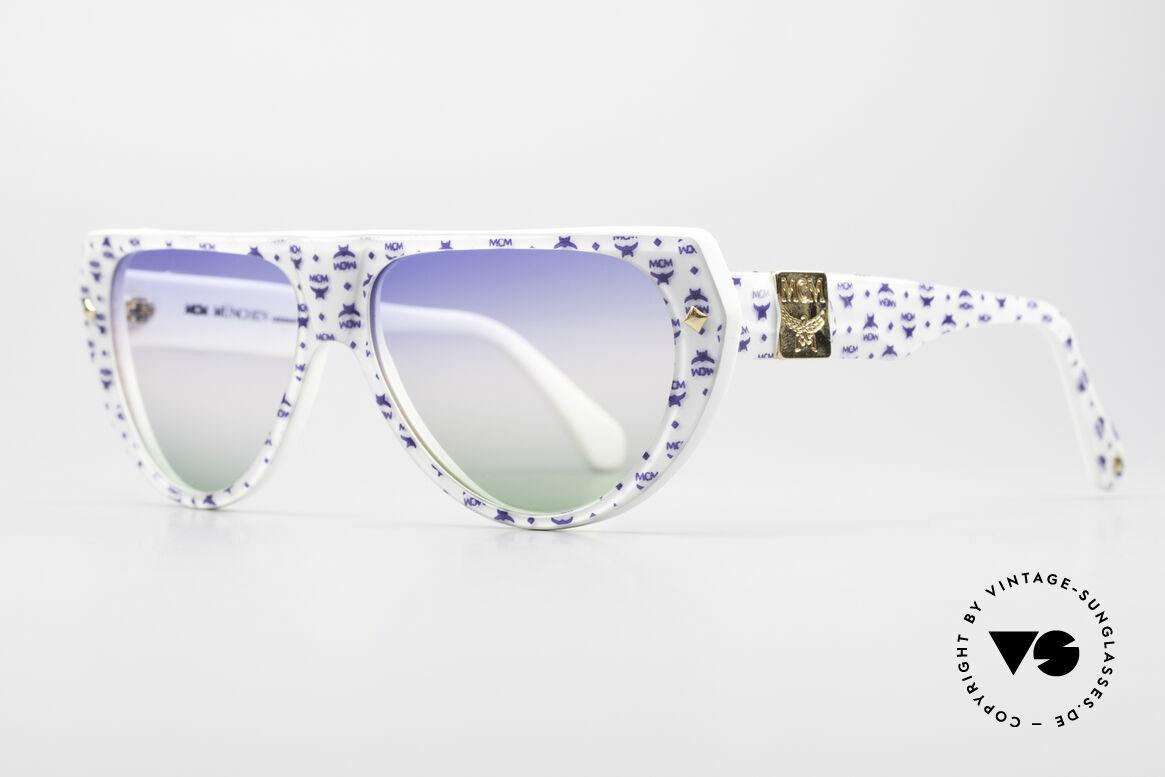 MCM München A1 Hip Hop Designer Sonnenbrille, wuchtige Optik und überzeugende 80er Qualität, Passend für Herren und Damen