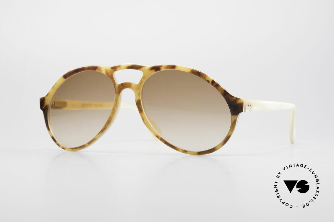 Bugatti 55003 Echt Büffelhorn Sonnenbrille, kostbare vintage BUGATTI Sonnenbrille in Größe 54-16, Passend für Herren