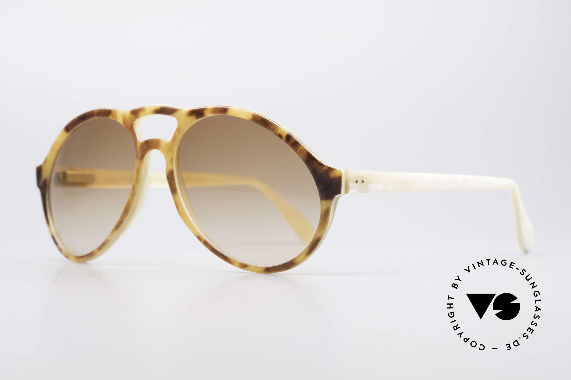Bugatti 55003 Echt Büffelhorn Sonnenbrille, echte Rarität (in Handarbeit gefertigt); Sammlerstück!, Passend für Herren