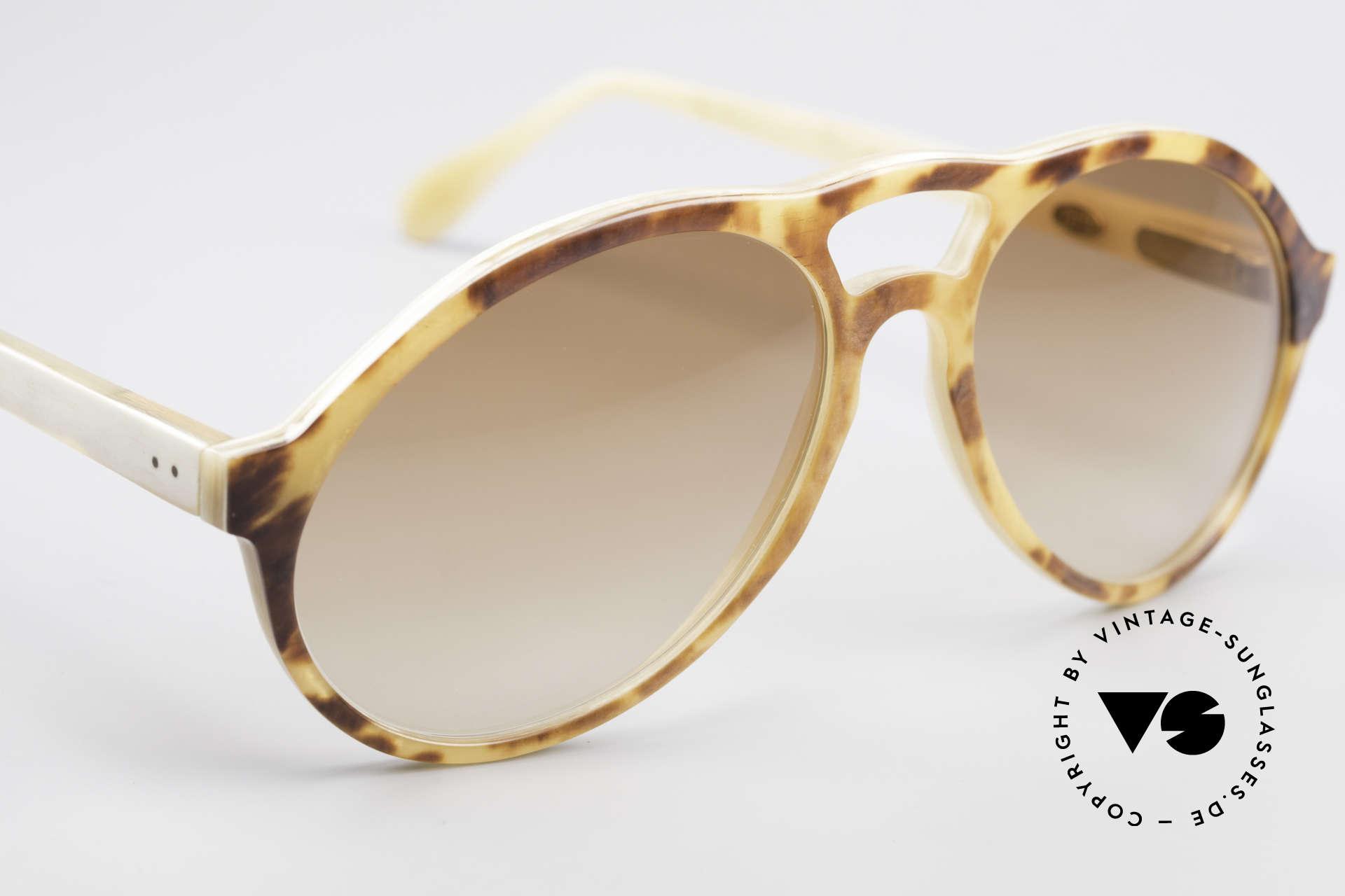 Bugatti 55003 Echt Büffelhorn Sonnenbrille, ein ungetragenes Original der späten 70er / frühen 80er, Passend für Herren