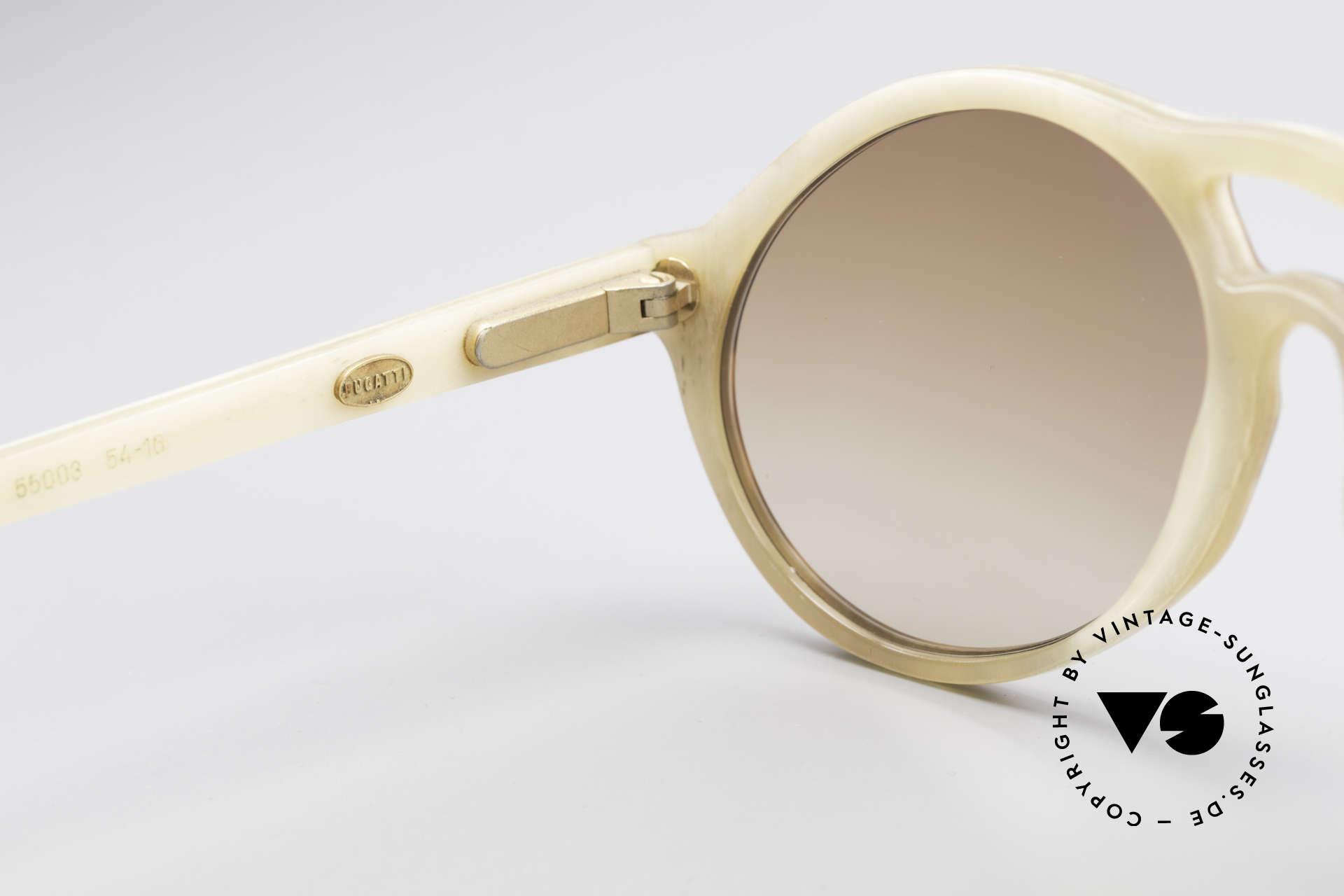 Bugatti 55003 Echt Büffelhorn Sonnenbrille, wahres UNIKAT ... heutzutage kaum noch zu bekommen!, Passend für Herren