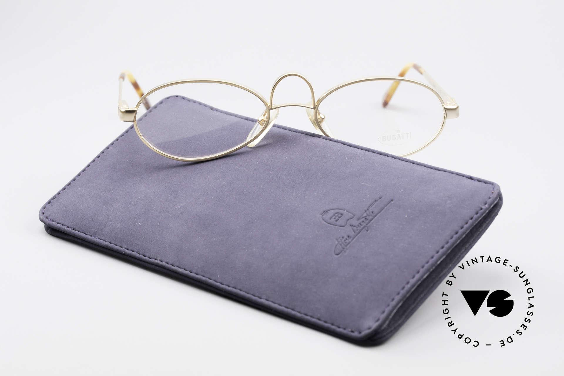 Bugatti 13001 Bugatti Kühlergrill Brille, KEINE RETRO Brille, sondern ein altes 80er ORIGINAL, Passend für Herren und Damen