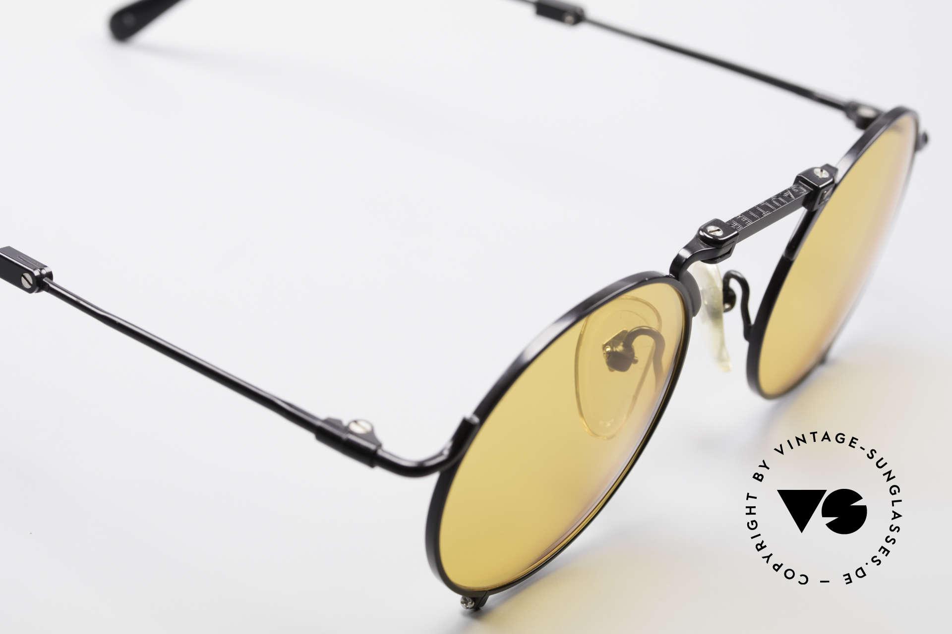Jean Paul Gaultier 56-9171 90er Vintage FaltSonnenbrille, ungetragen (wie alle unsere vintage J.P. Gaultiers), Passend für Herren und Damen