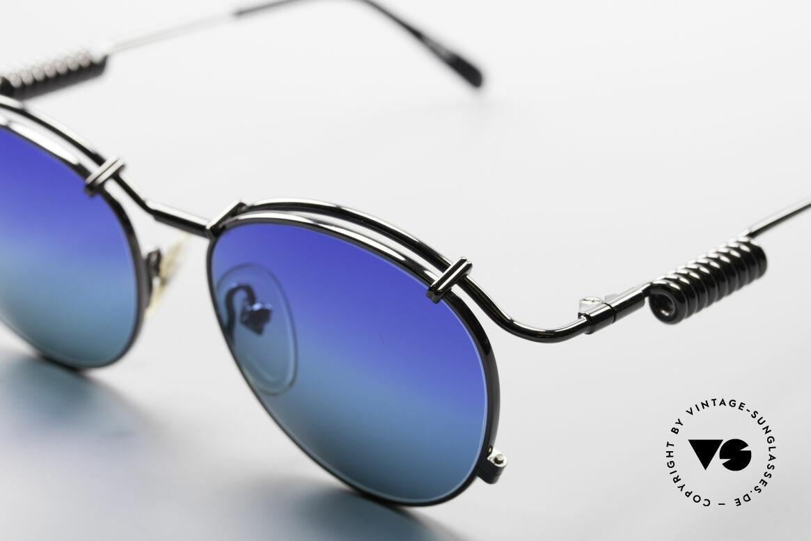 Jean Paul Gaultier 56-9174 Industrial 90er Sonnenbrille, zudem sehr elegante Lackierung in 'GUNMETAL', Passend für Herren und Damen