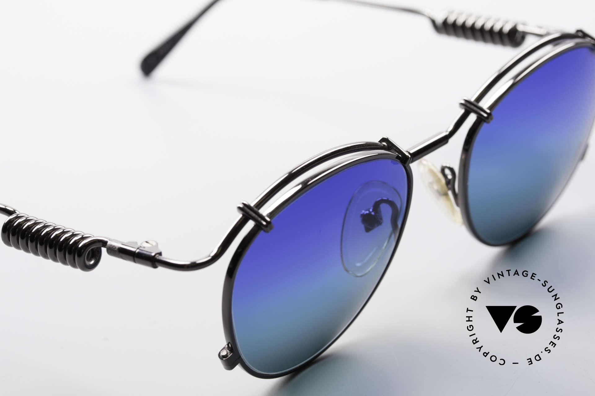 Jean Paul Gaultier 56-9174 Industrial 90er Sonnenbrille, ungetragen; wie alle unsere alten Gaultier Brillen, Passend für Herren und Damen